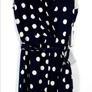 a8cf44b020a Eliza J Dresses | Nwt Polka Dot Jersey Faux Wrap Dress | Poshmark